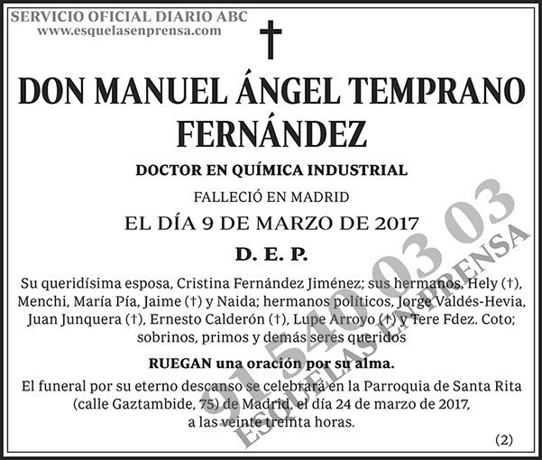 Manuel Ángel Temprano Fernández